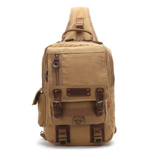 2016 Classical Vintage Men Canvas Shoulder Crossbody Chest Bag Multifunction Casual Travel Pack