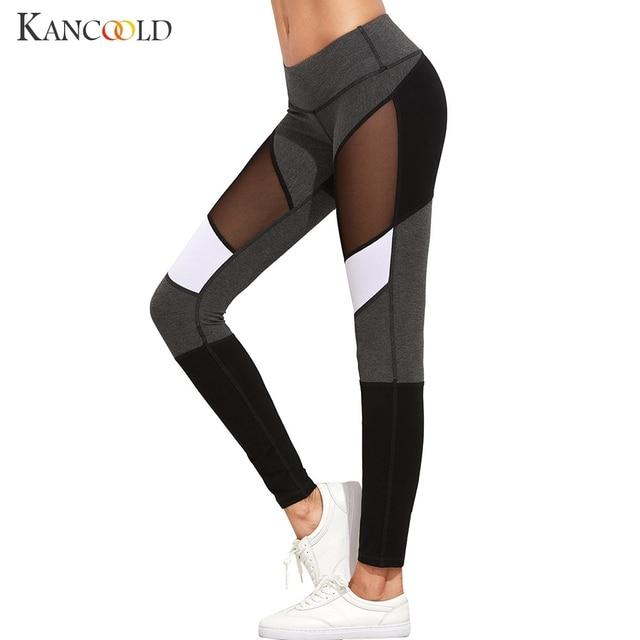 d09b464288e9c Hot sale mesh splice fitness leggings trousers for women athleisure 2017  jeggings grey black slim legging pants female Pants 320