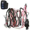 Apoyo EE Nuevo Estilo Del Coche Del Fusible del Relé de 40A Interruptor Láser Zombie Kit Arnés de Cableado de Luz LED ON OFF XY01