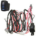 EE support New Car Styling 40A Laser Rocker Switch Relay Fuse Wiring Harness Kit LED Light Zombie ON OFF XY01