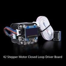 BIGTREETECH S42A 42 moteur pas à pas en boucle fermée SERVO42A Kits de carte de pilote de moteur avec écran OLED 12864 pour imprimante 3D
