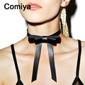 Comiya perfumes feminino fashion bow charm women choker necklaces parfum femme jewelry wholesale cute necklace