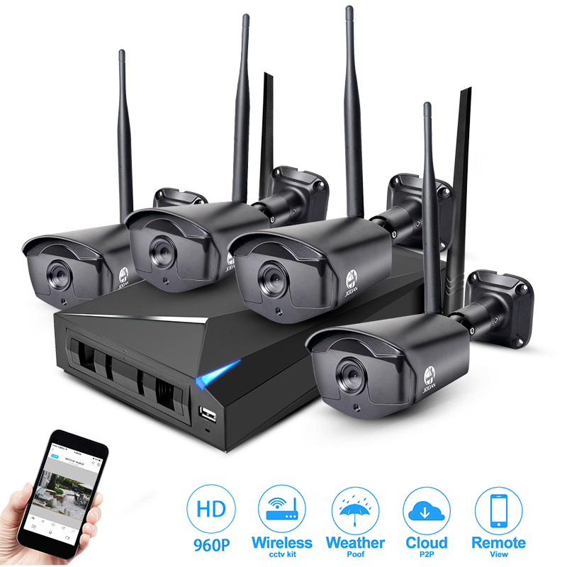 buy jooan wireless security system 4 channel cctv nvr video recorder 960p wifi. Black Bedroom Furniture Sets. Home Design Ideas