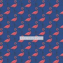 Leo & lin água rasa flamingo chiffon europeu fio de raiz azul camada vermelha poliéster fibra impressão digital ponto tecidos 50cm