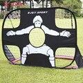 110*80*80 cm Portátil Dobrável Crianças Conjunto Porta Portão de Futebol Gol Futebol Esportes Ao Ar Livre Brinquedos Caçoa o Futebol Conjunto porta Presentes Legal