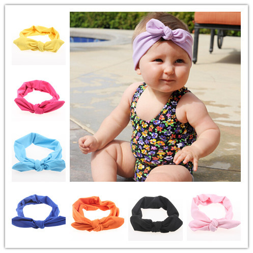New Girl Headwrap Top Knot Cotton Headband Fashion Ears Bow Hairband Hair  Accessories Hairware 12pcs lot Free Shipping bfd00c0d022