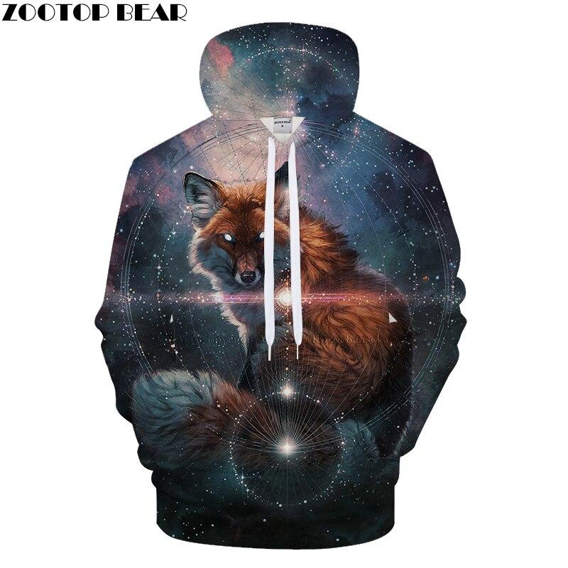 Galaxy&Wolf 3D Print Hoodies Men Casual Sweatshirt BrandTracksuit Pullover Autumn HoodedCoat Unisex Harajuku DropShip ZOOTOPBEAR