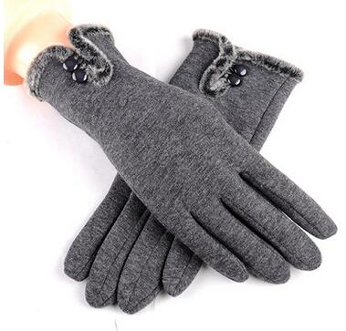 1pair/lot free shipping female winter patchwork warm gloves solid fashion coral fleece gloves