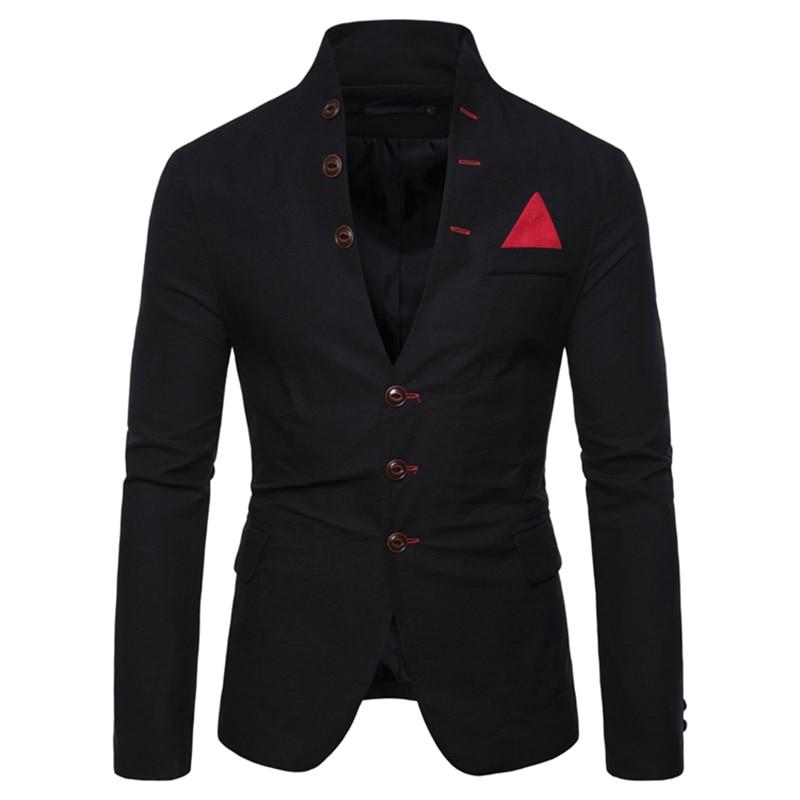 Autumn New Men Suit Blazer Jacket 2020 Business Casual Mens Suits Blazers 5 Colors  Men Suit Jacket