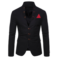 Fashion casual men blazer jacket S M L XL XXL mens suits blazers 5 colors men suit jacket