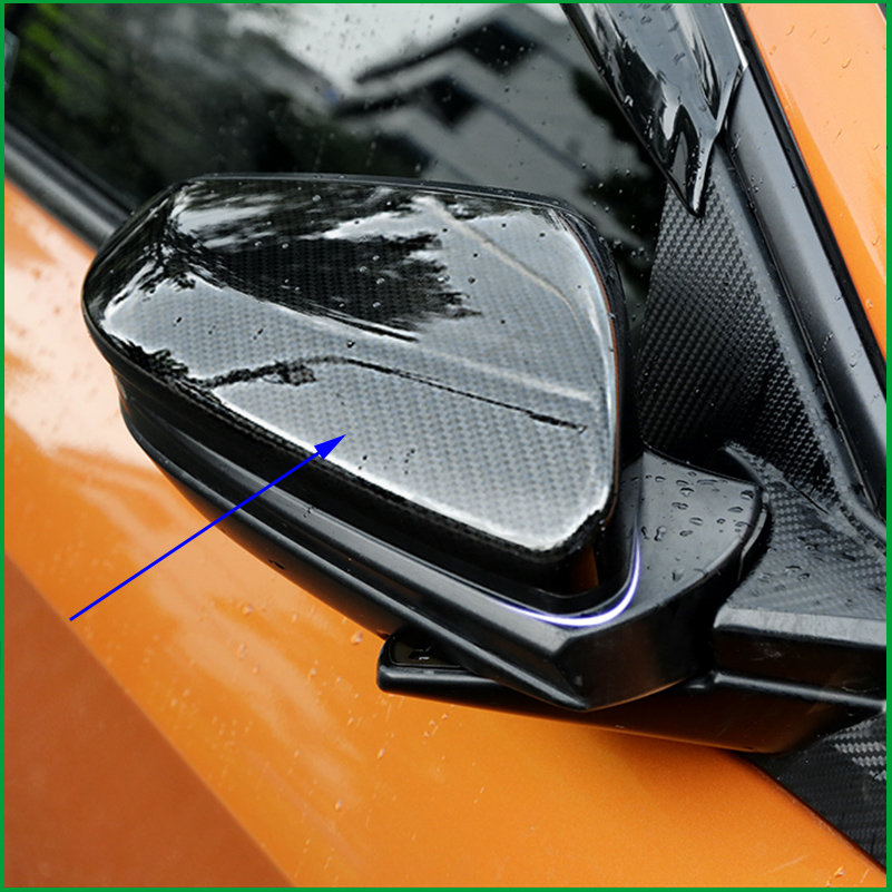 ABS Carbon Fiber Print Side Door Rearview Mirror Cover Trim Sticker Fit For Honda Civic 10th