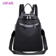 купить 2018 New Winter Lingge Backpack Women Oxford Bag Female Backpacks Back Pack Ladies School Bags for Teenagers Girls black по цене 1137.15 рублей