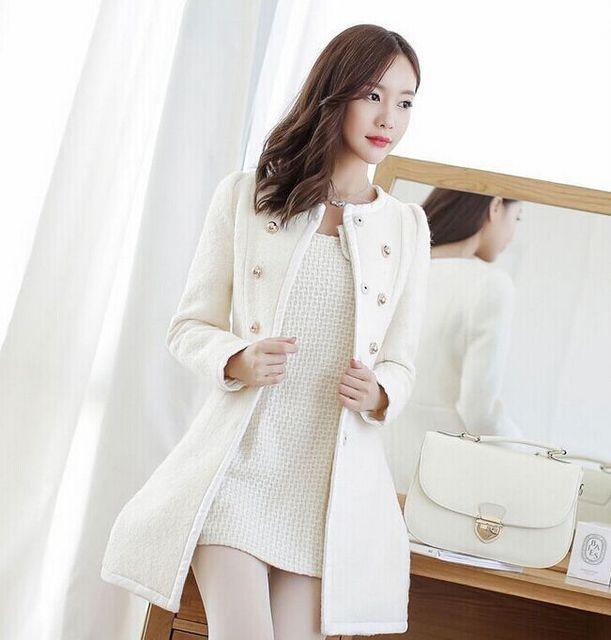 new Long Autumn Winter Coat Women Wool Blends Coats Female Jacket Winter Woman Coat Warm Windbreaker Abrigos Mujer Wool Women 1