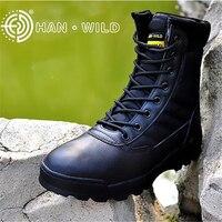 Sapatos de Couro Genuíno Dos Homens Do Exército DOS EUA Botas de Combate Tático Caminhadas Bota SWAT Militar Tático Botas de Combate À Prova D' Água Para O Homem Sapatos