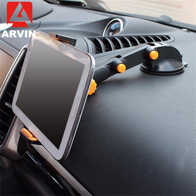 Arvin tablet suporte do telefone para ipad ar mini 1 2 3 4-11 Polegada forte sucção tablet carro suporte para ipad iphone x 8 7 tablet pc