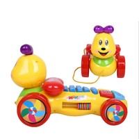 Baby Toy Phones Cartoon Carpenterworm Telephone Car Music And Light Good Gift For Kids Early Education