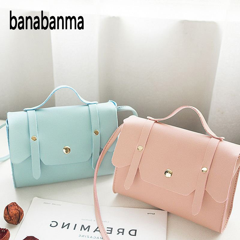 Women Messenger Bag Fashion Solid Color Phone Coin Bag PU Leather Shoulder Bag Cute Wild of the slung small Square bag zk30