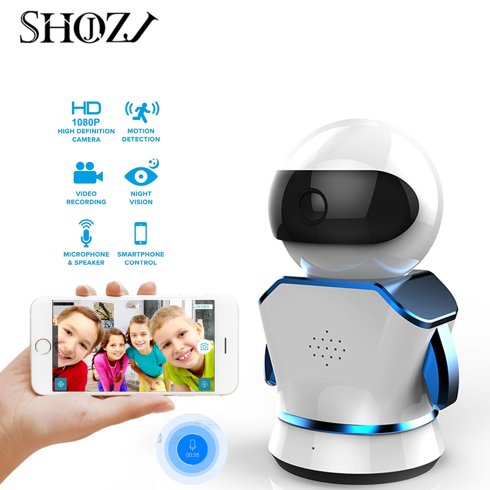 Robot Home Security IP Camera Wi-Fi CCTV Monito Baby Monitor Wireless Mini Network Monitor Surveillance Wifi 1080P Night Vision(China)