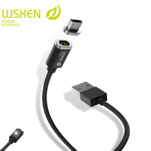 WSKEN Mini 2 Magnetic Micro USB Cable For SAMSUNG s7 Micro USB Devices  Magnetic Charger Fast Charging Mobile Phone USB Cables