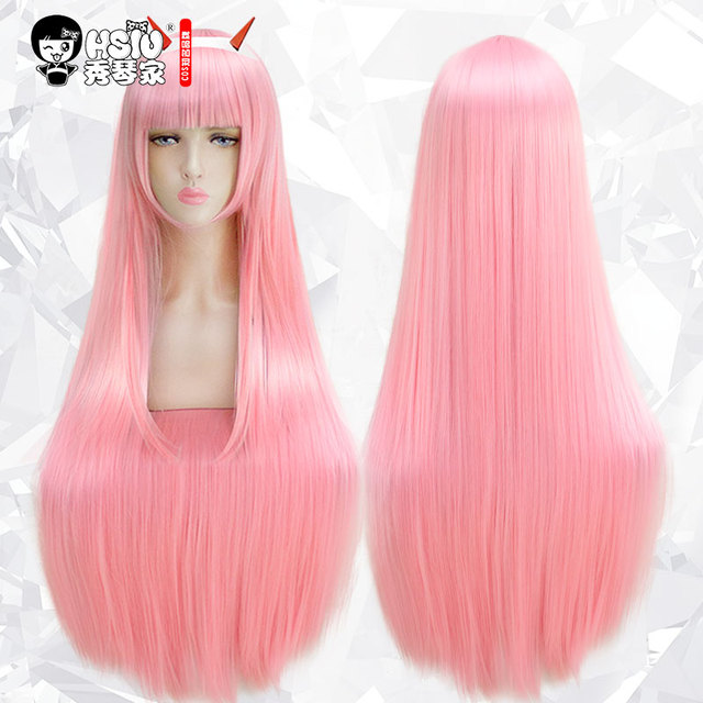 HSIU DARLING in the FRANXX Cosplay Wig Zero Two ICHIGO Costume Play Wigs Halloween Costumes Hair free shipping NEW High quality