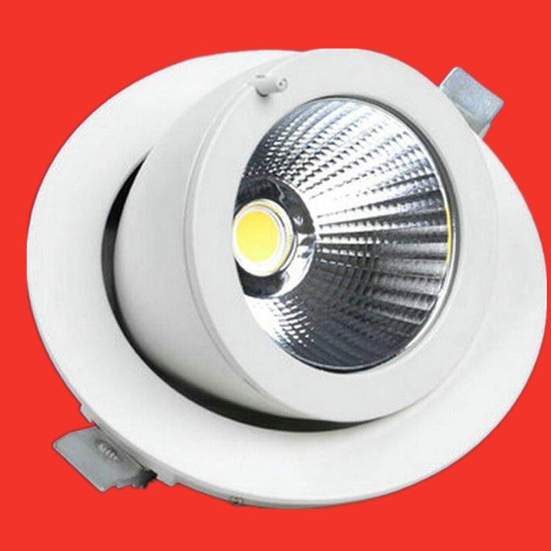 Wholesales COB LED 15W 20W 25W 30W 40W 50W Spotlight LED Indoor Lighting Recessed Downlights Warm Cold White AC85-265V Free