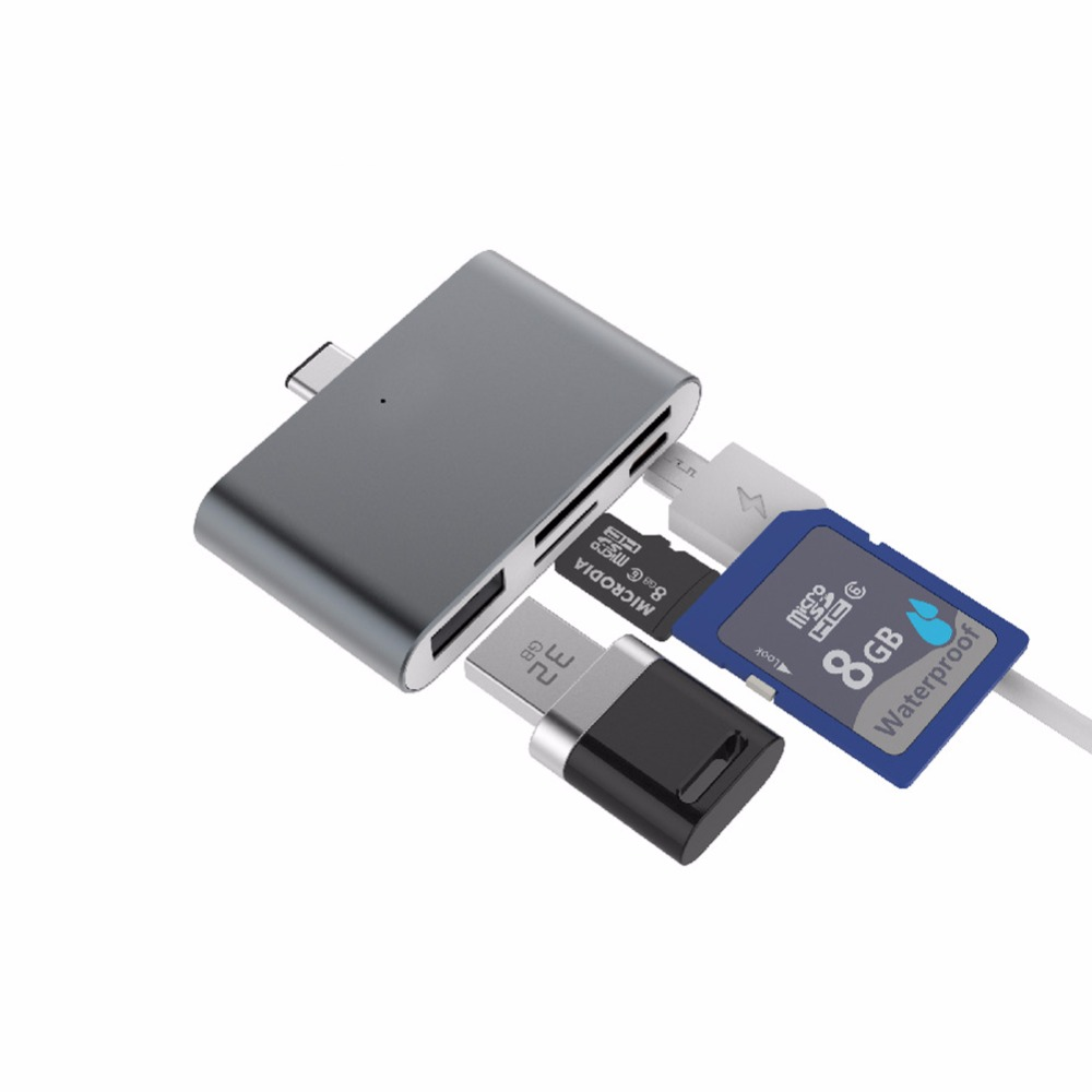 USB 3.1 Type-C USB-Otg Type C-Reader Card Hub-Type Tub për telefonin / Kompjuterin Data e transferimit në USB / TF / SD / Micro USB