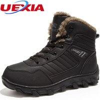Rus stil Kış Erkekler Boots Martin Kar Ayak Bileği Boots Sıcak Peluş & Kürk Iş Güvenliği Ile Erkekler Ayakkabı Aşınmaya dayanıklı Anti-Skid Saf