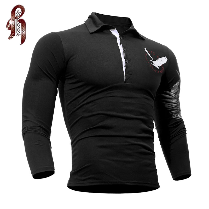 heykeson mens polo shirt brands 2017 male long sleeve