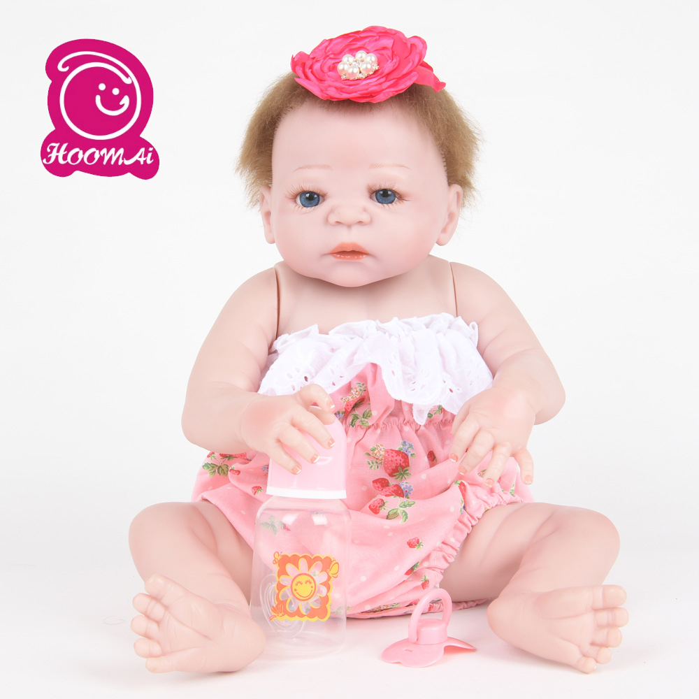 Full Silicone Reborn Baby Girl Dolls Soft Silicone Vinyl Real Gentle Touch Bebe New Born Real Baby Christmas GiftFull Silicone Reborn Baby Girl Dolls Soft Silicone Vinyl Real Gentle Touch Bebe New Born Real Baby Christmas Gift