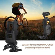 For DJI Osmo Pocket Camera interface & Action Cam Mount for Tripod Selfie Stick Bicycle Mount Bracket Holder with 1/4 Screw(China)