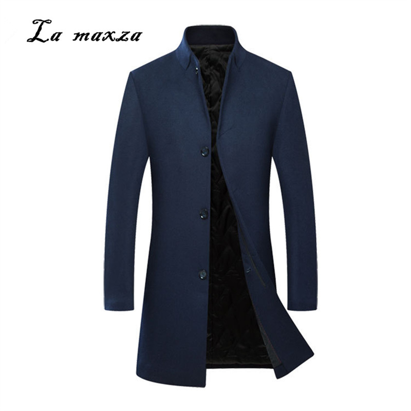 Mens Coats Dress Casual Plus-Size Winter Fashion Slim Smart Formal New-Arrivals