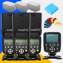 Yongnuo yn560 yn560iii iii yn560-iii yn-560iii x3 + yn560tx yn-560tx dla canon nikon aparat bezprzewodowy kontroler flash speedlite