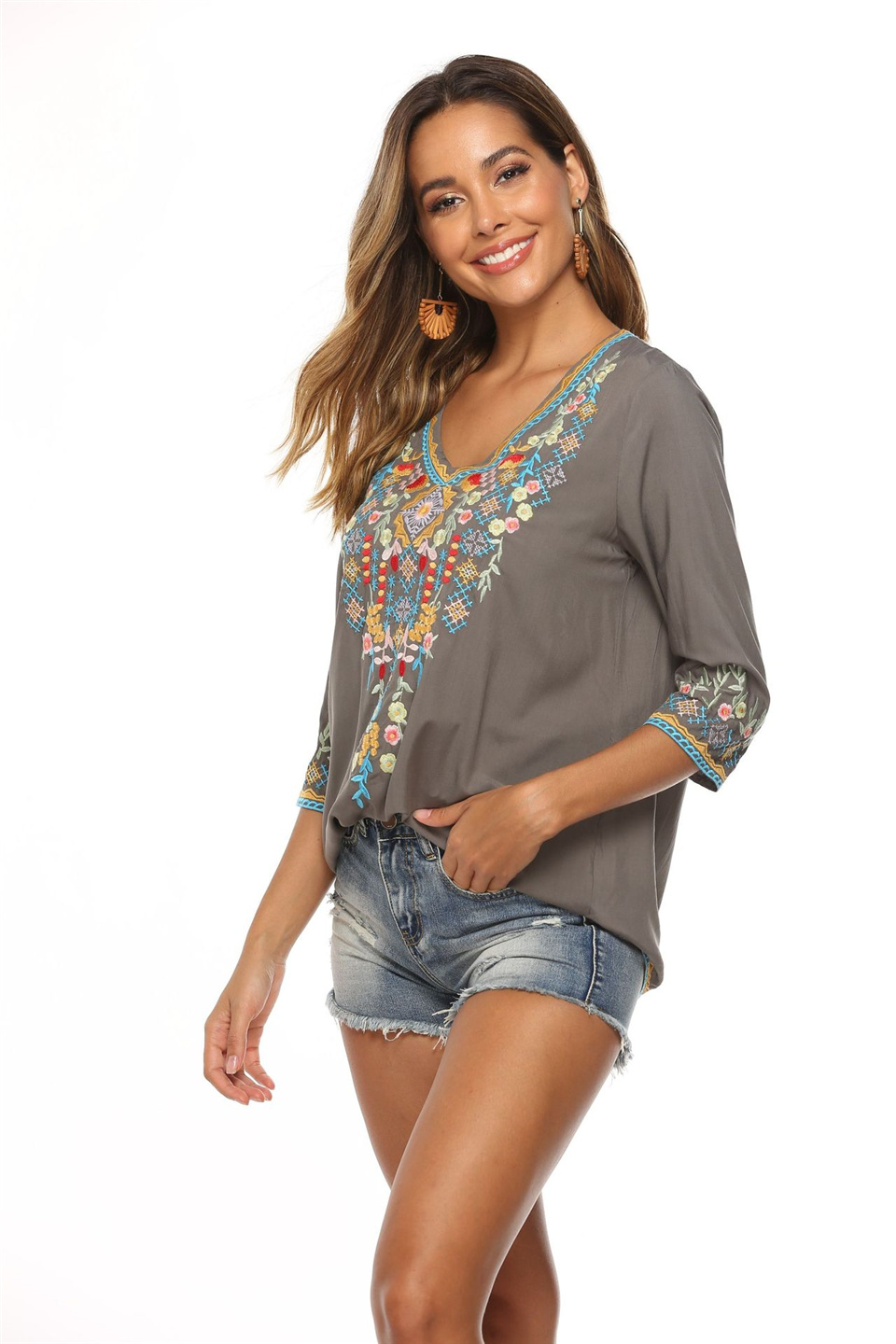 USD CORUJA V-neck Tops 5