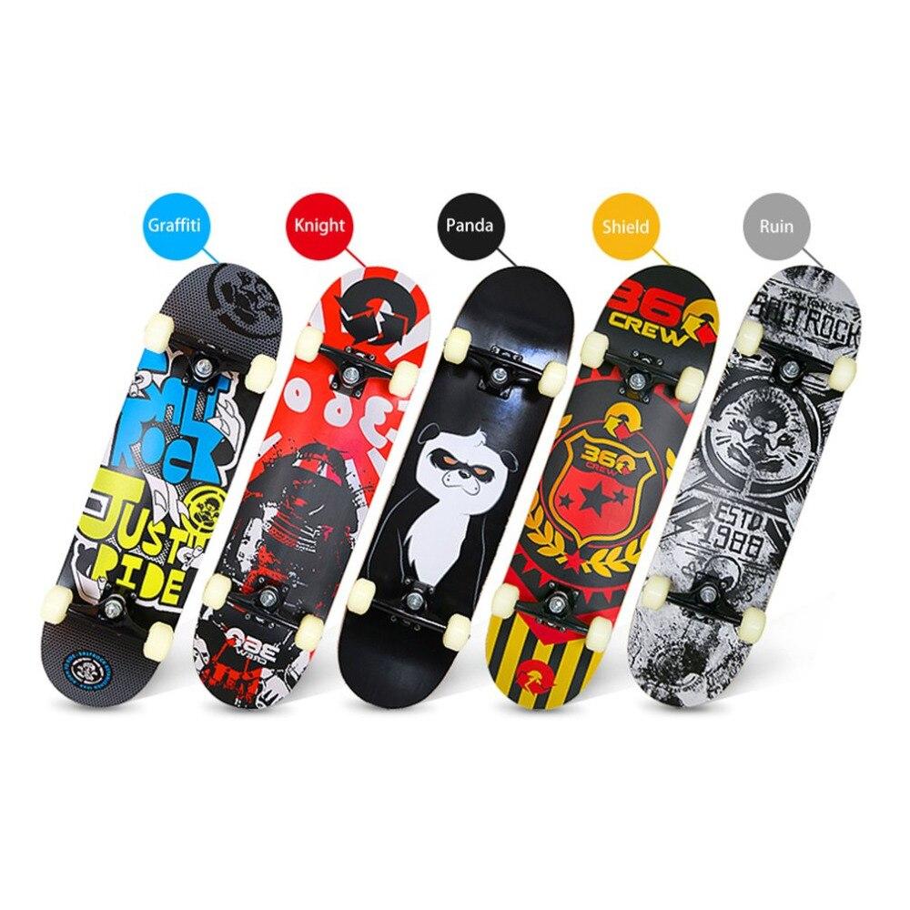Four-wheeled Skateboard Maple Wood Material Freestyle Skateboard Skate Deck Long Board Cool Adult Teenager Skateboards New цена и фото