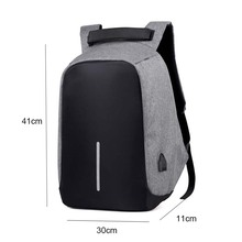 Anti Theft Backpack Men USB Charge 15inch Laptop Backpack Waterproof Fashion Male Mochila Travel Men's Backpack Women School Bag