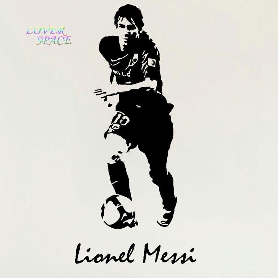 0f1717544 Lionel Messi Barcelona piłka nożna Sport Wall Art naklejki ścienne naklejka  Mural Vinyl naklejki ścienne Soccer plakat marka naklejki w Lionel Messi ...