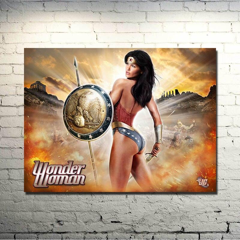 Wonder Woman Gal Gadot Movie Art Silk Poster 13x20 24x36 inch 002