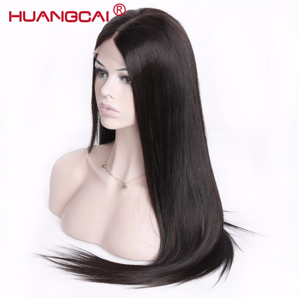 Brazilian Straight Pre Plucked Full Lace Human Hair Wigs Glueless Full Lace Wigs With Baby Hair