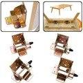 4 Unids/lote Bloqueo Soporte Plegable PLEGABLE PATA DE LA MESA muebles Bisagras Con Tornillos Soportes de RV