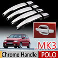 Para vw polo 6n mk3 1994-2003 manija cromada cubre 6n2 volkswagen 1996 1999 2000 cromo styling sticker car styling accesorios