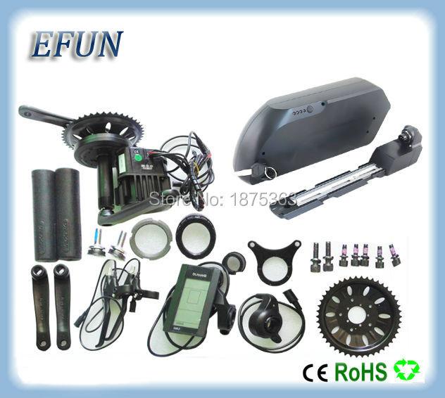 Fat Bike kits 52V Mid drive motor kits Bafang BBSHD/BBS03 48V 1000W with 52V 10.4Ah TS USB down tube battery for fat tire bike