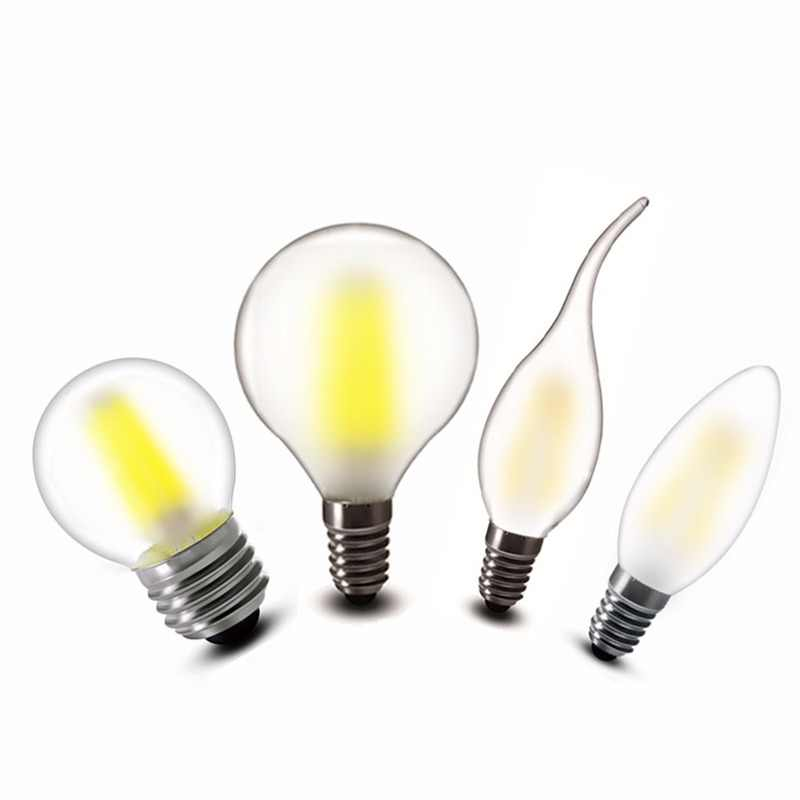 2w 4w 6w LED COB Bulb E14 Candles Lamp G45 C35 Clear Glass Frosted LED Filament lights warm white 220v 230v 240v AC