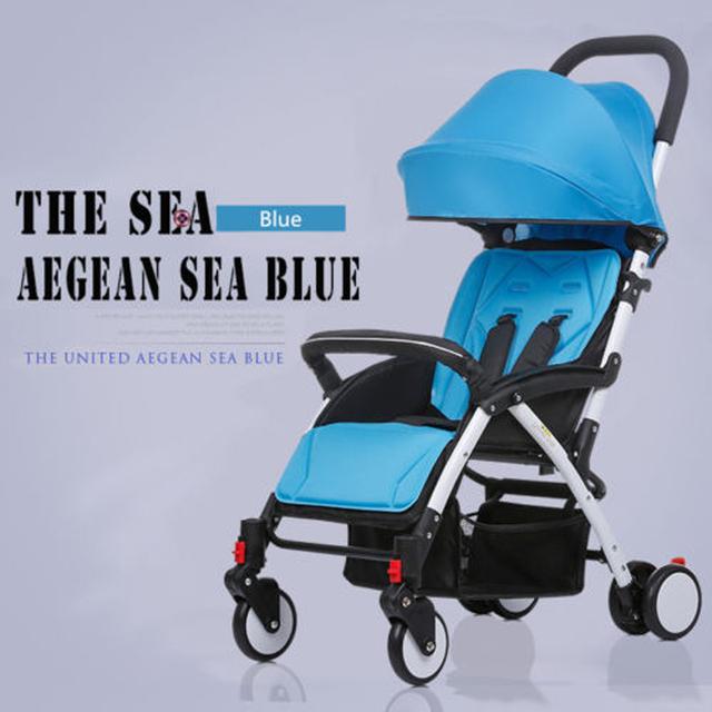 Mini Carrinho De Bebê Leve Guarda-chuva De Viagem Pequeno Carrinho de Bebé Infantil Transporte One-chave Dobra