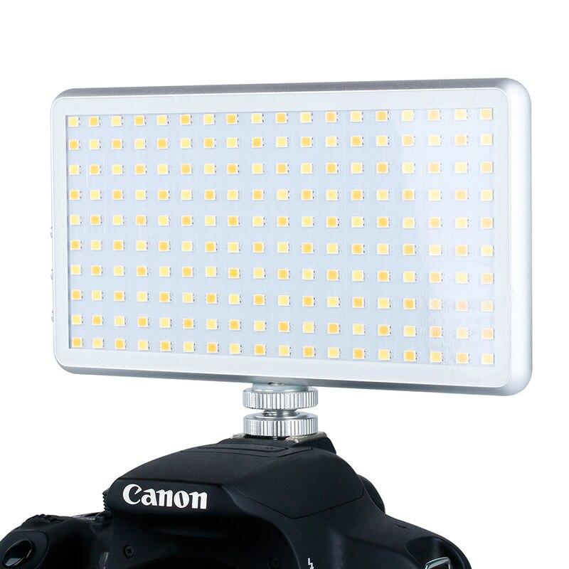 Image 2 - X 180 3200 5600K مصباح فيديو ليد رقيق عاكس للضوء على الكاميرا إضاءة التصوير DSLR مصباح الكاميرا 400mAh بنك الطاقة مع OLEDإضاءة التصوير الفوتوغرافي   -