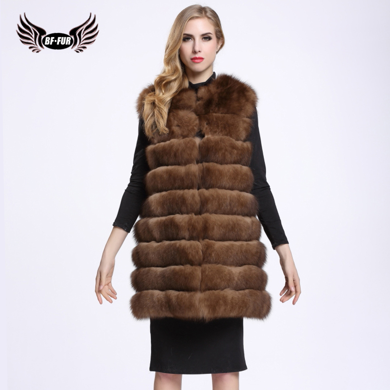 BFFUR Arctic Fox Fur Coat Sable Fur Coat Real Value Winter Women Real Fox Fur Vest Women Coat Plus Size Blue Fox BF-V0098