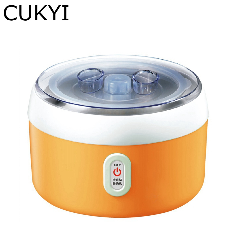 CUKYI Yogurt maker Rice wine machine1.2L capacity ,electric and automatic,green,orange,pink, hot selling electric yogurt machine stainless steel liner mini automatic yogurt maker 1l capacity 220v