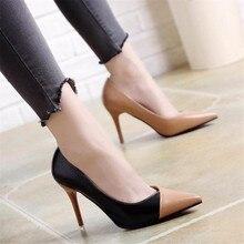 24905583019c00 2018 Femmes Pompes OL Mode Sort Couleur Haute talons Chaussures Simples  Femelle Printemps D'été en cuir Verni De Mariage Parti c.