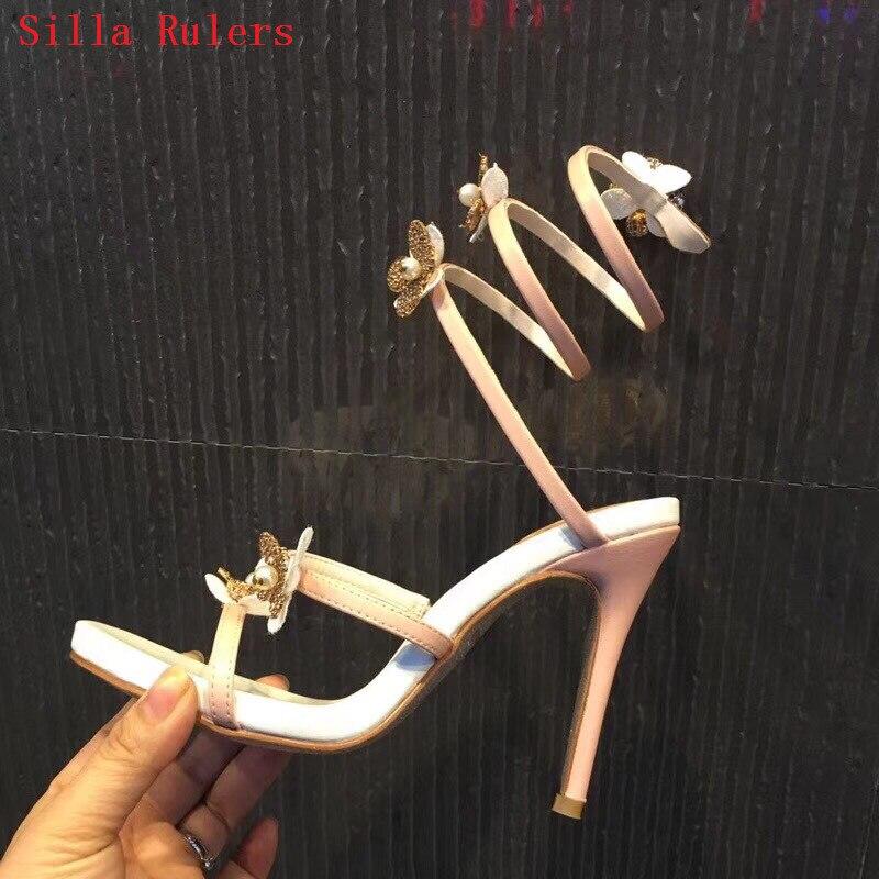 Sandalias Hauts 2018 Style Femme Mujer De Cristal Chaussures Nouveau À Sandales Picture Femmes Talons D'été Mariée Mariage Serpent Rouleau As Fleur FvwwqTAp