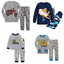 Christmas Kids Pyjamas Set Boy excavator printing Cotton Long Sleeve Tops+Pants Nightwear Sleepwear 2pcs Boys Pajamas Outfits(China)