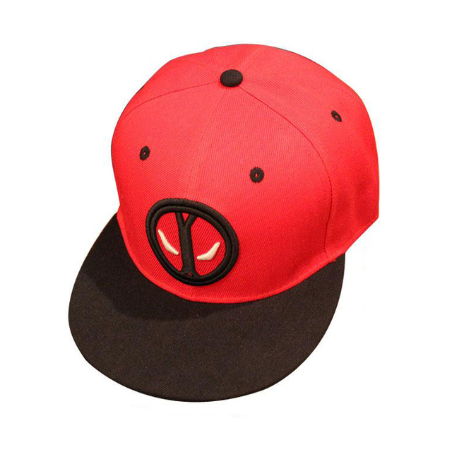 2016 NEW anime movie Deadpool logo baseball cap Hip-hop trend casquette gorras cosplay accessories caps Holiday gifts